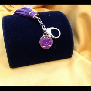 Purple Purse Tassle Key Chain